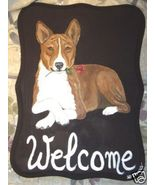 Basenji Dog Custom Painted Welcome Sign Plaque - $31.95