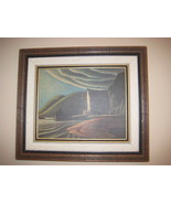 Vintage Lawren Harris The Ice House Framed Oil ... - $40.50