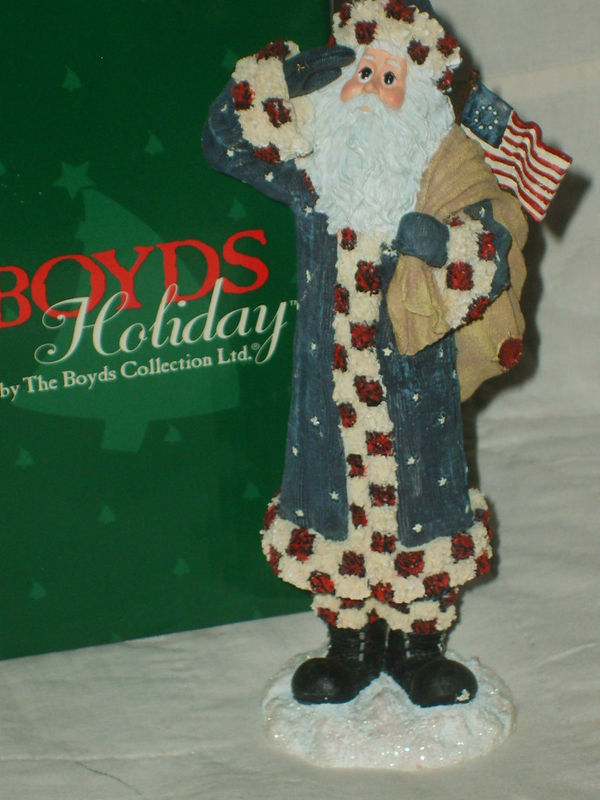 "BOYDS COLLECTION LTD HOLIDAY SANTA FIGURE #28020 ""FRANKLIN"" 2E/1456 NIB MINT $25"