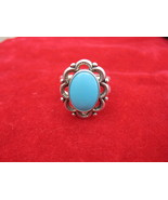 Vintage Sterling silver sky blue Turquoise Ring... - $27.00