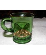 Souvenir Glass Green Colorado Pattern Benson Vt... - $15.00