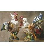 Intrada Cesare Fighting Roosters Figurine Made ... - $1,065.00