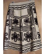 Vintage 1970's Hippie A-line Linen Embroidered ... - $31.68