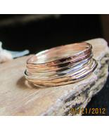 Handmade set of 6 skinny stack rings 14K gold f... - $69.00
