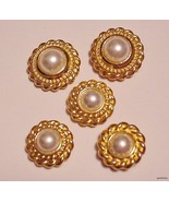 Vintage 5 Button Covers Faux Pearl - $15.95