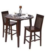 3 Pc SET Amaretto Finish Wood 36H Round Dining ... - $339.99