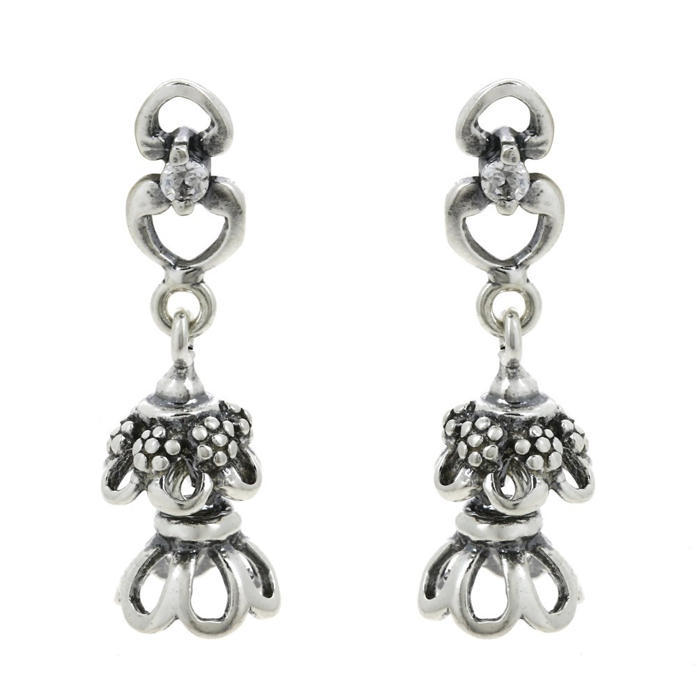 Sterling Silver Jhumki Earrings For Teen Girls Dangle ...