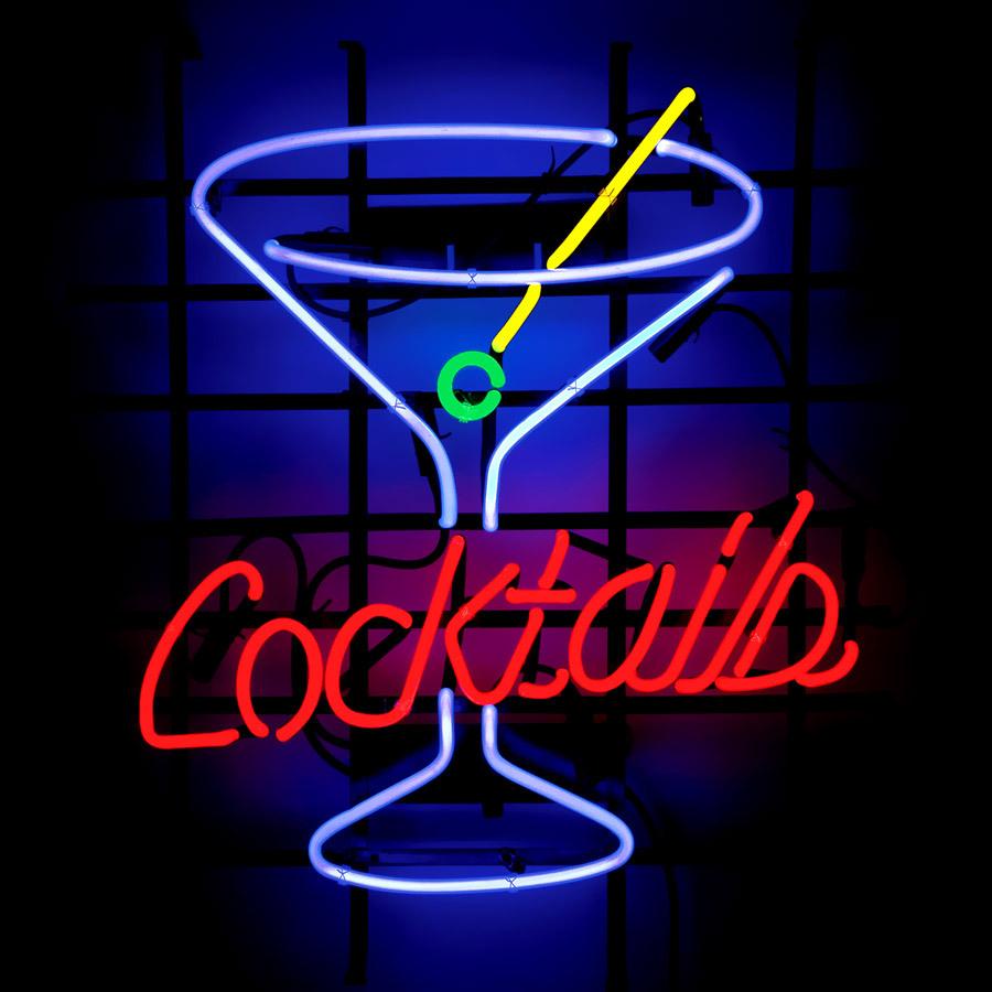 me335 cocktails beer bar neon light sign 16 x 15 free. Black Bedroom Furniture Sets. Home Design Ideas