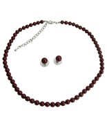 Compliment Wedding Jewelry Set In Bordeaux Wine... - $32.88