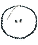 Exotic Tahitian Pearl Necklace Stud Earrings At... - $32.88