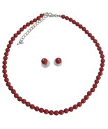 Handmade Swarovski Red Pearls For Both Brides &... - $32.88