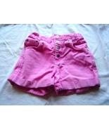 Girls Size 6X Pink Denim Snap Front Jean Shorts - $4.95