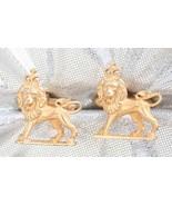 Swank Medieval Style Goldtone Leo Sign Lion wit... - $29.65