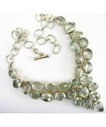Cushion Faceted Green Amethyst Ovals with Teard... - $284.13