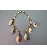 Vintage Charm Sea Shell Bracelet Rich Natural C... - $9.89