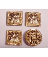 lot of 4 Elegant Goldtone Button Covers Career ... - $15.95
