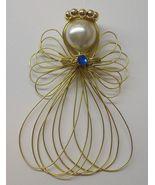 Birthstone Angel Ornament Handmade Goldtone - $6.20