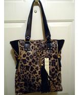 Kate Landy Madison Blue Leopard Print Handbag - $59.99