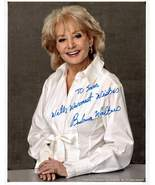 8 x 10 Autographed Photo of Barbra Walters RP - $4.00