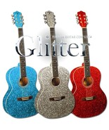 Red T. Swift Style Sparkle Glitter Acoustic Guitar - $199.00