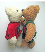 Hallmark KISS Kissing Teddy Bear Stuffed Animal... - $9.89