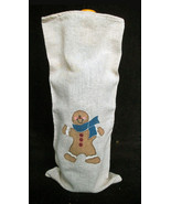 NEW Linen Cloth Ginger Bread Man Wine Liquor Bo... - $7.91