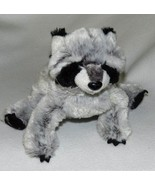 GANZ Webkinz Black Gray Raccoon Lovable Plush T... - $9.99