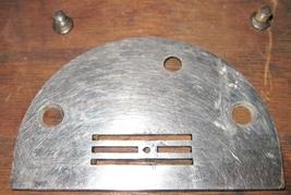 Vintage White Family Rotary Throat Plate w/Moun... - $10.00
