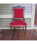 Antique Victorian Walnut Eastlake Parlour Side ... - $170.42