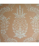 9sr Creamy Coral Pineapple Stencil Waterhouse W... - $285.12