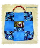 *Customized LOGO/PHOTO Pocket Tote Bag*Your LOG... - $40.00