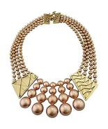 Monet Deco Style Runway Couture Bib Necklace 1980s - $140.00