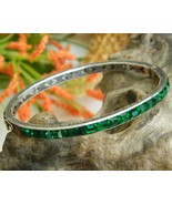 Vintage_art_deco_sterling_channel_set_bracelet_bangle_green_rhinestones_thumbtall