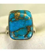 Natural Cabochon Rectangle of Copper Turquoise ... - $95.23