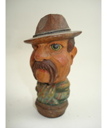 hand carved tiny wood man-possible Anri - $80.00