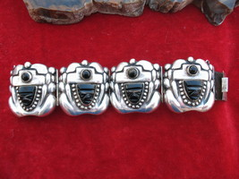 Jose Anton Mexican Sterling Silver Repousse Ony... - $300.00