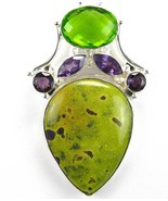 Stichtite in Serpentine with faceted Amethyst +... - $141.12
