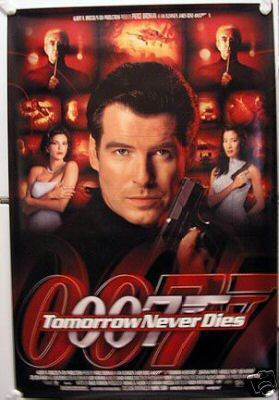 TOMORROW NEVER DIES MOVIE POSTER JAMES BOND 40X27