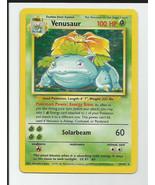 Shadowless VENUSAUR 15/102 1st Base Set Pokemon... - $68.55
