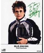 8 x 10 Autographed Photo of Billie Jean King  RP - $8.00