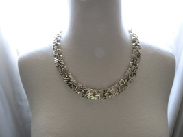 VTG Collar Necklace Metal Link Gold Plated Unma... - $39.59
