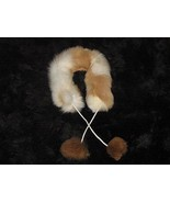 Alpaca fur stola, fur neck scarf,  - £41.64 GBP