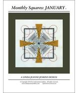 Monthly Squares January cross stitch card chart... - $6.00