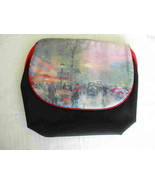 Thomas Kinkade Paris Scene mirrored Cosmetic Bag - $12.00