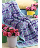 W170 Crochet PATTERN ONLY Monet Inspired Plaid ... - $7.45