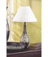 Table Lamp Black White Zebra Stripe Desk Light ... - $25.00