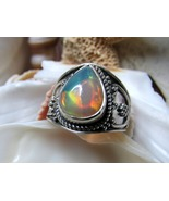 Sterling Silver Natural Opal Ring 4.36 grams Si... - $65.00