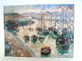 16x20 Russian Print   Harbor Scene   Mieczyslaw... - $38.21