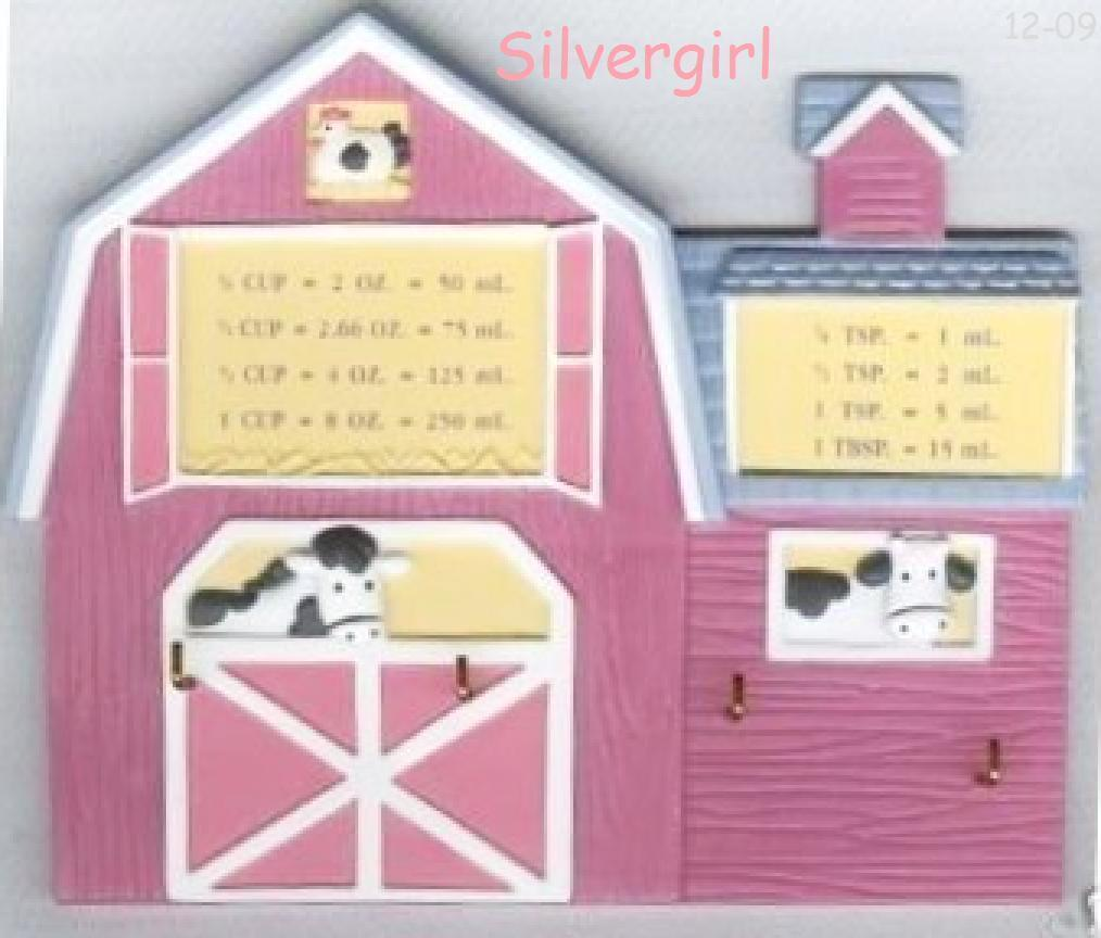 Pink Plastic Barn Key Holder