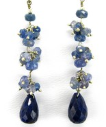 Hand faceted Sapphire Briolettes and Rounds Ste... - $73.92